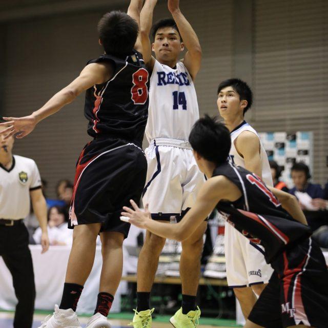 男子1回戦 れいめい(鹿児島) 56-67 県立松山工業(愛媛)