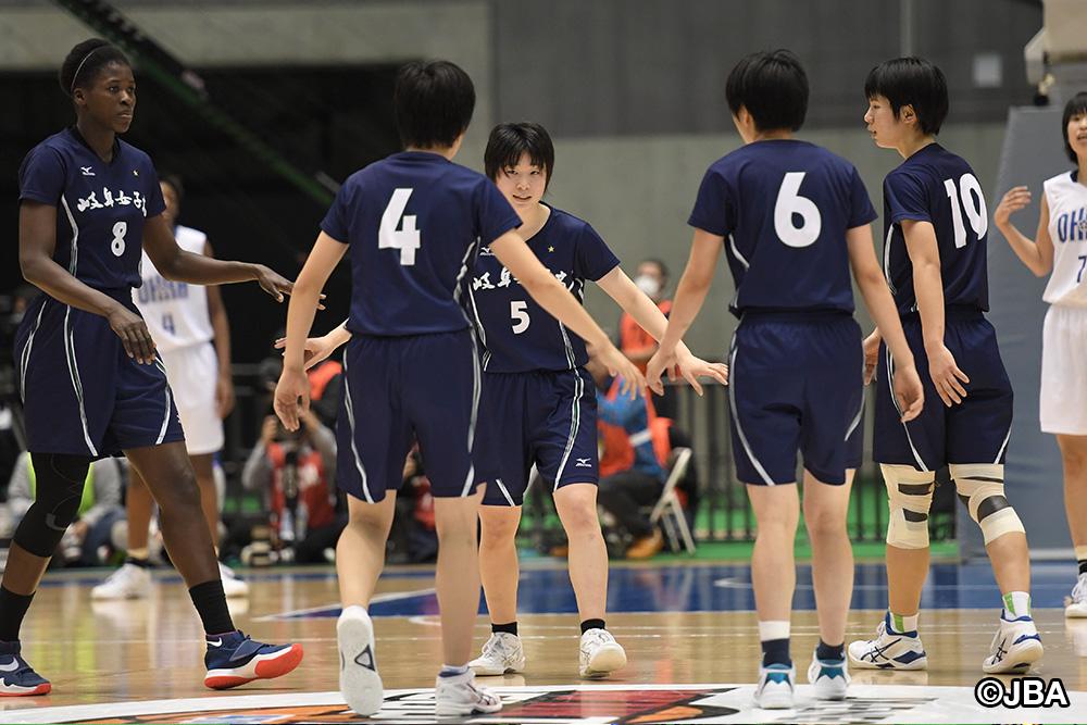 チームでひとつになって大会連覇と、桜花学園(総体1位)の高校3冠阻止に挑んだ岐阜女子(総体2位)