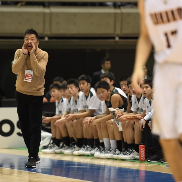 男子2回戦 洛南(京都) 62-60 県立福島南(福島)