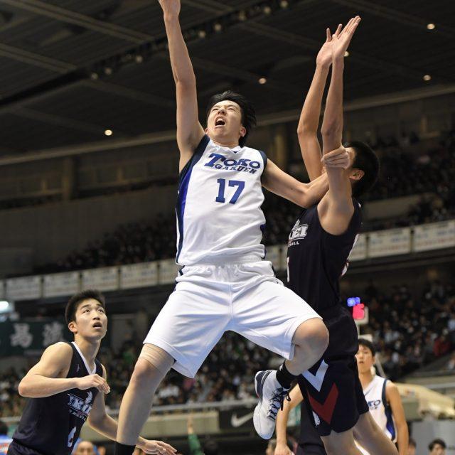 男子2回戦 桐光学園(神奈川) 74-83 育英(兵庫)