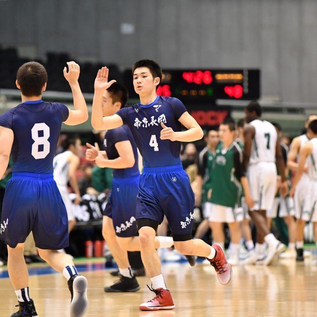 男子準決勝 福岡第一(総体1位) ○ 89-78 ● 帝京長岡(新潟)