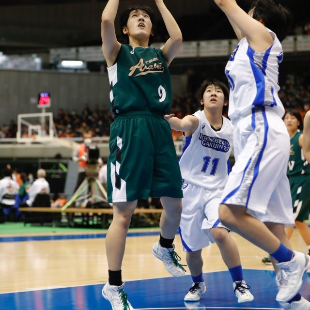 女子1回戦 一関学院(岩手) 55-74 県立旭(神奈川)