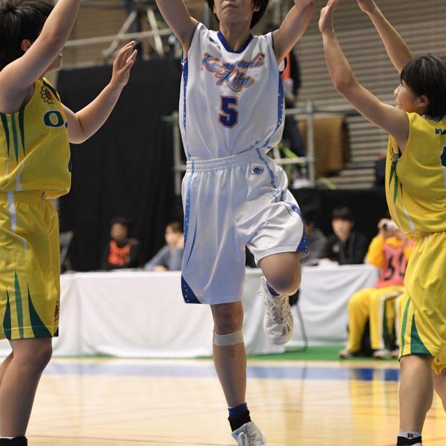 女子1回戦 倉吉北(鳥取) 63-59 県立岡豊(高知)