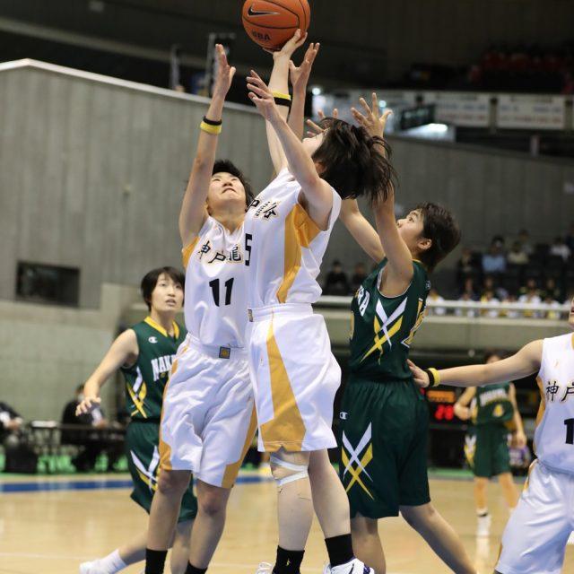 女子1回戦 神戸龍谷(兵庫) 64-86 中村学園女子(福岡)