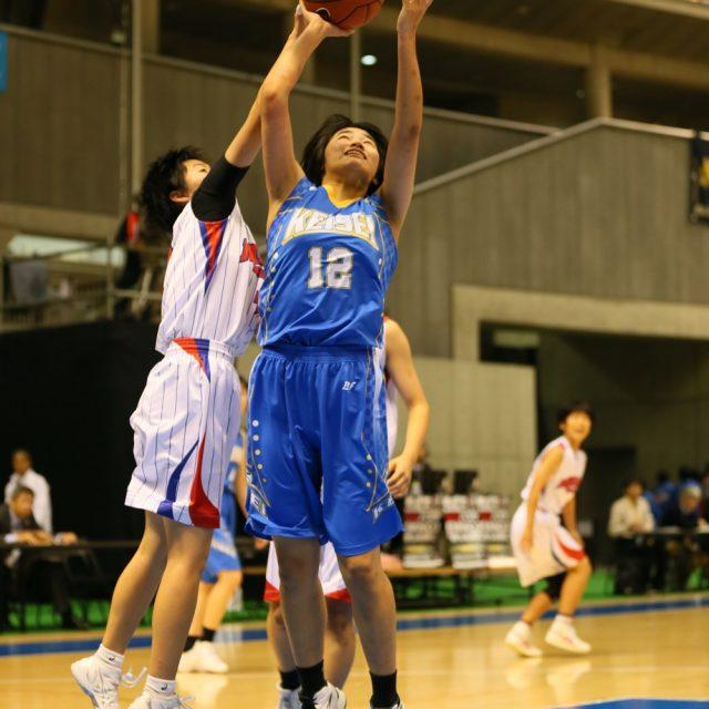女子1回戦 県立広島皆実(広島) 93-55 慶誠(熊本)