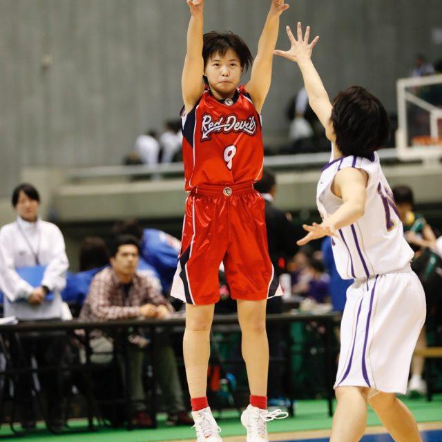 女子1回戦 東京成徳大学(開催地) 86-65 奈良文化(奈良)
