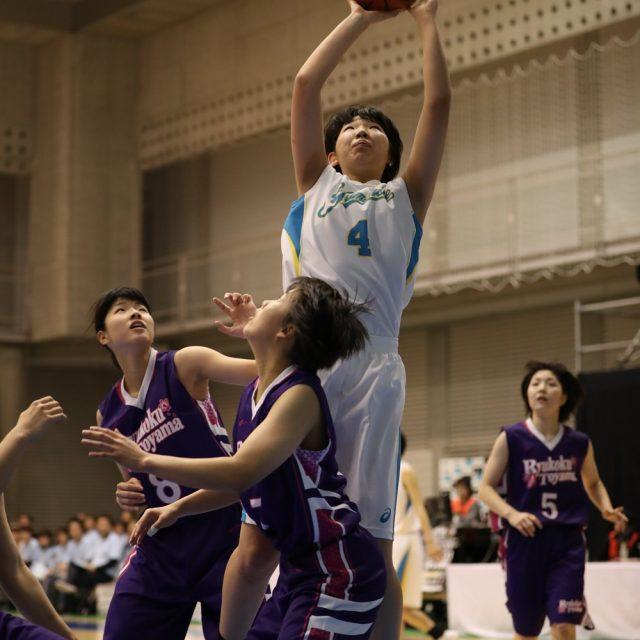 女子2回戦 札幌山の手(北海道) 115-65 龍谷富山(富山)