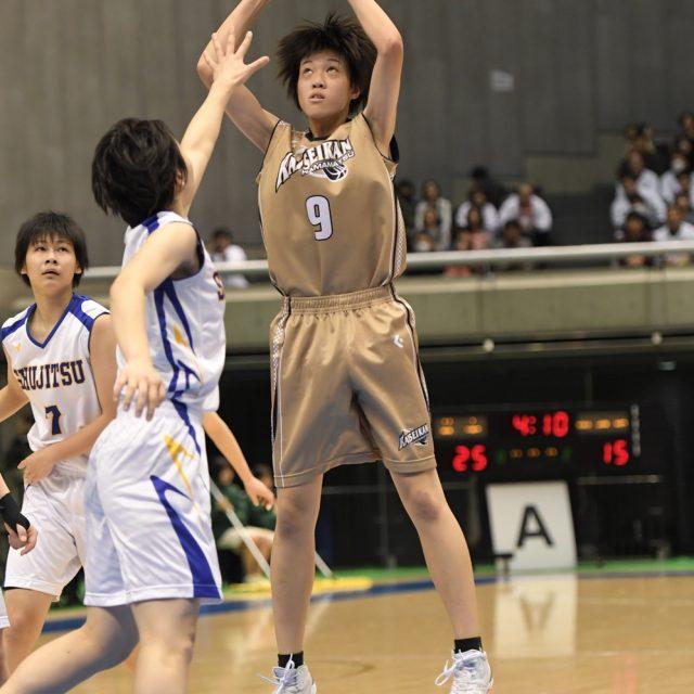 女子2回戦 就実(岡山) 52-59 浜松開誠館(静岡)