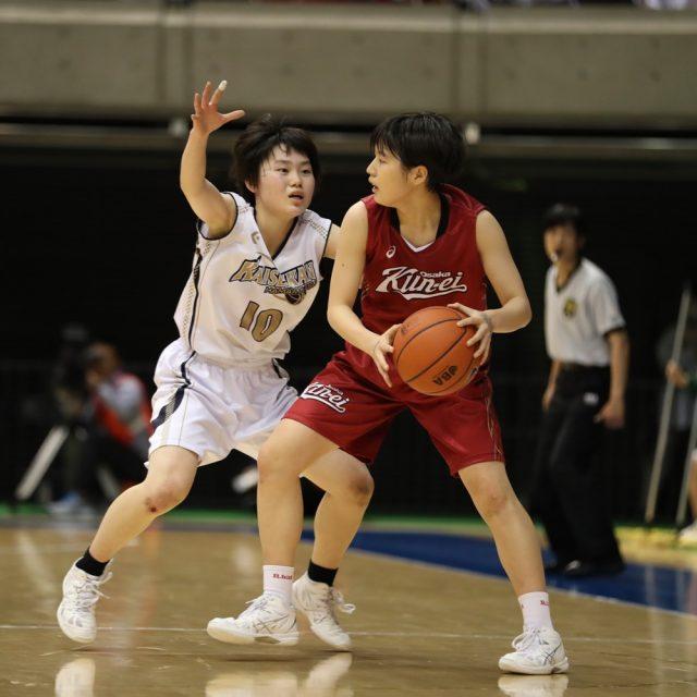 女子準々決勝 浜松開誠館(静岡) 44-71 大阪薫英女学院(大阪)