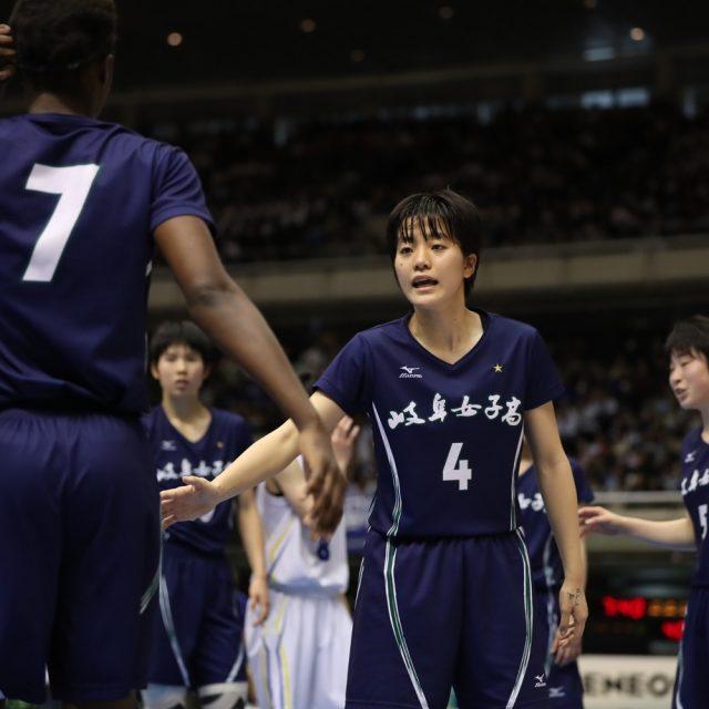 女子準々決勝 八雲学園(東京) 51-69 岐阜女子(総体2位)
